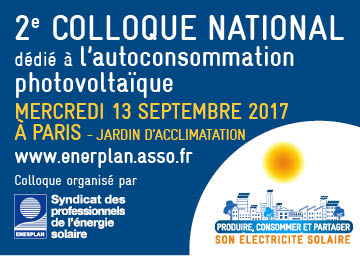 Colloque national dédié à l'autoconsommation